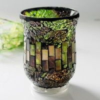 Sales promotion mosaic candle holder,red candle holder