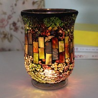 Sales promotion mosaic candle holder,red candle holder ...