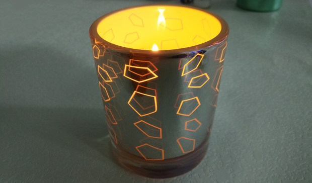 2017 new products glass candle holders