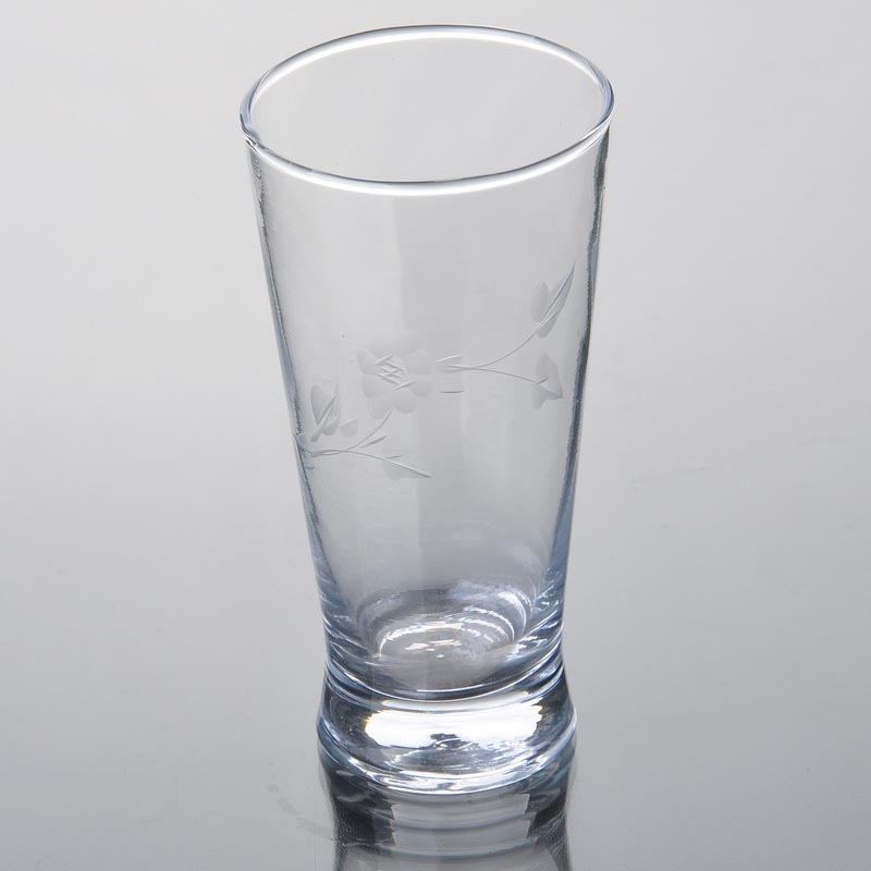 350 ml 12 oz curved beer glass custom pilsner glasses