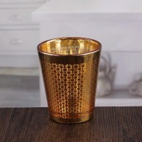 Decorative wall candle holders pretty golden votive candle ...