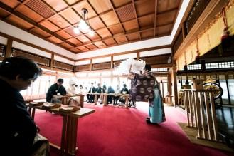 伊奈波神社での神前式