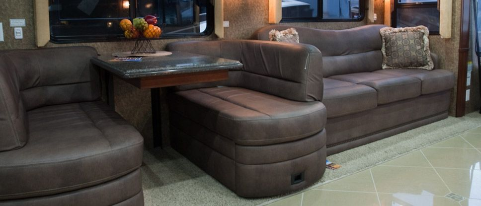 flexsteel sectional sofas friheten sofa bed hack glastop rv & motorhome furniture | custom ...