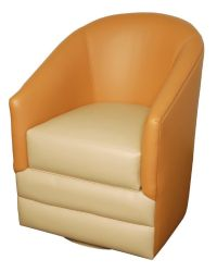 GL-23BL Swivel Barrel Chair with Storage, Glastop Inc.