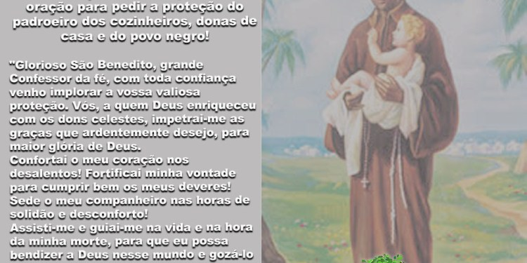 5 de outubro, é dia de São Benedito!!!