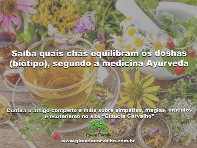 Saiba quais chás equilibram os doshas (biótipo), segundo a medicina Ayurveda