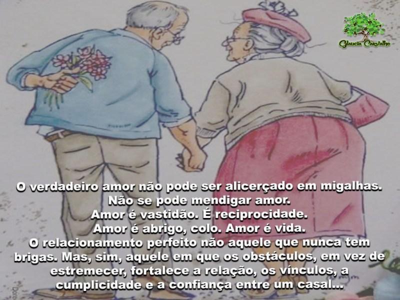 O verdadeiro amor não pode ser alicerçado em migalhas...