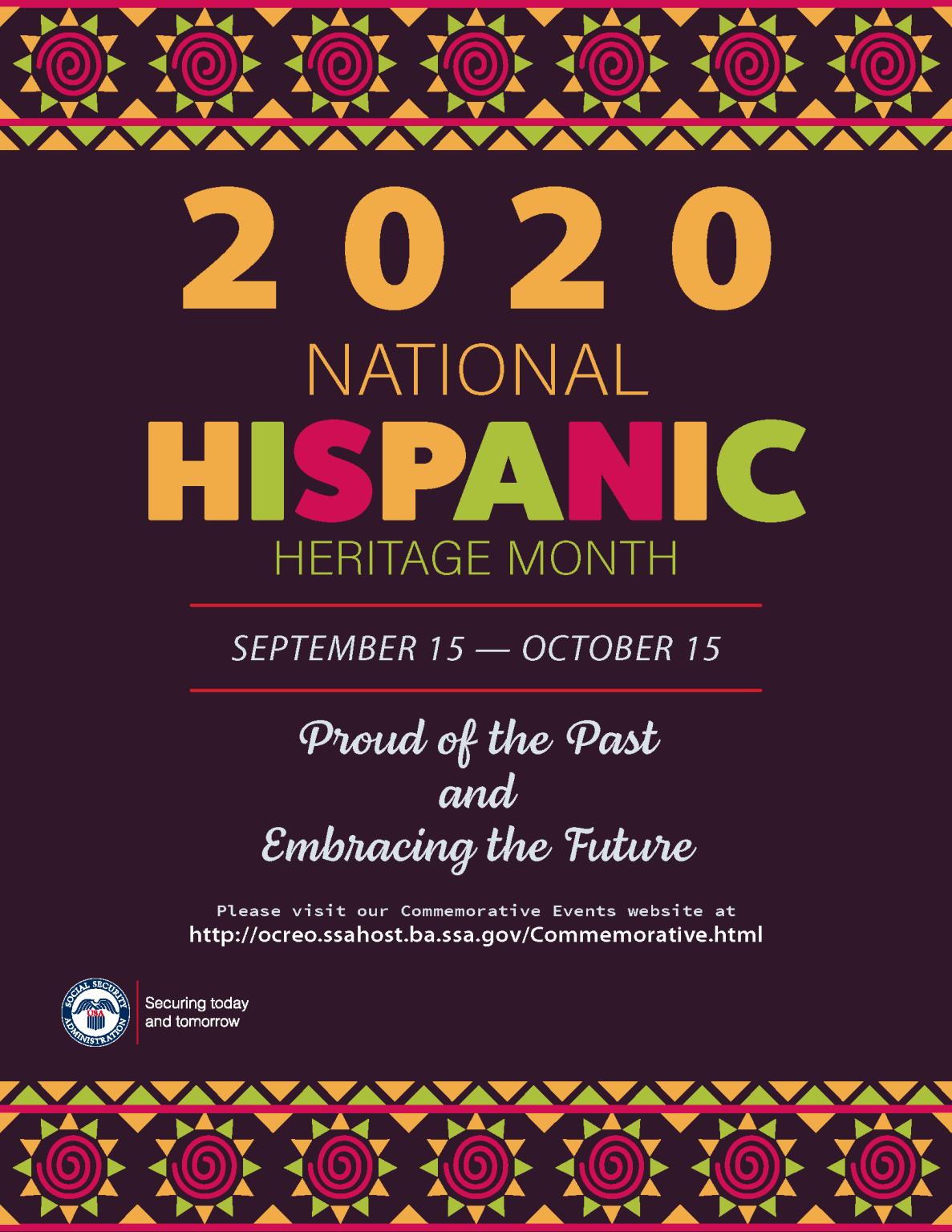 September 15 October 15 National Hispanic Heritage