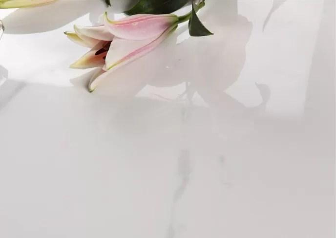 renewable marble look porcelain tile acid resistant fine air permeability