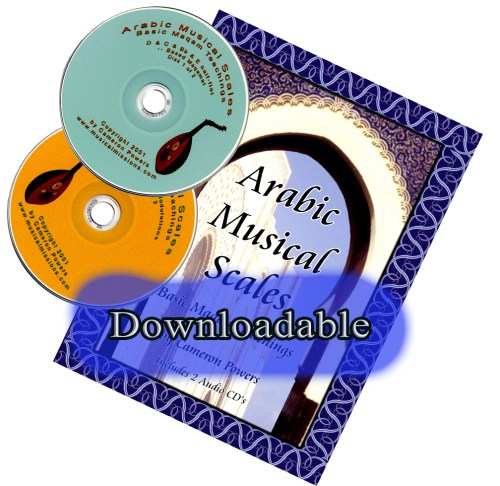 Downloadable Arabic Music Scales with 2 CDs Cover