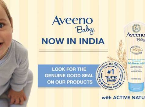 AveenoBaby -with active naturals Now in India