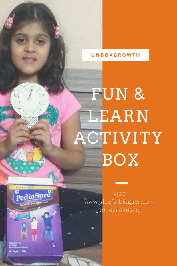 kids easy DIY activities Fun and Learn activity box by PediaSure