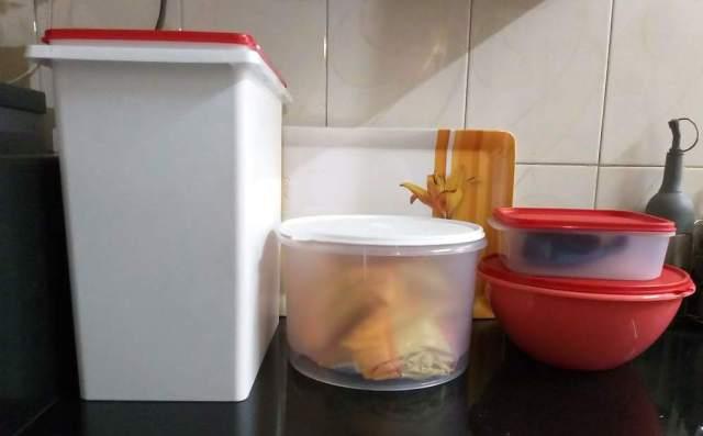 organized kitchen storage containers