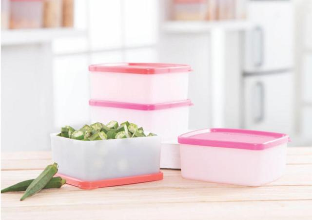 cool and fresh tupperware boxes