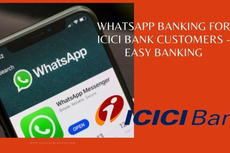 whatsapp banking ICICI bank