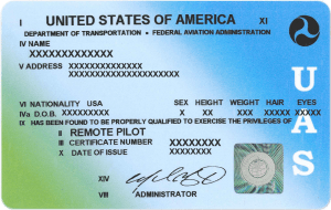 sUAS certificate