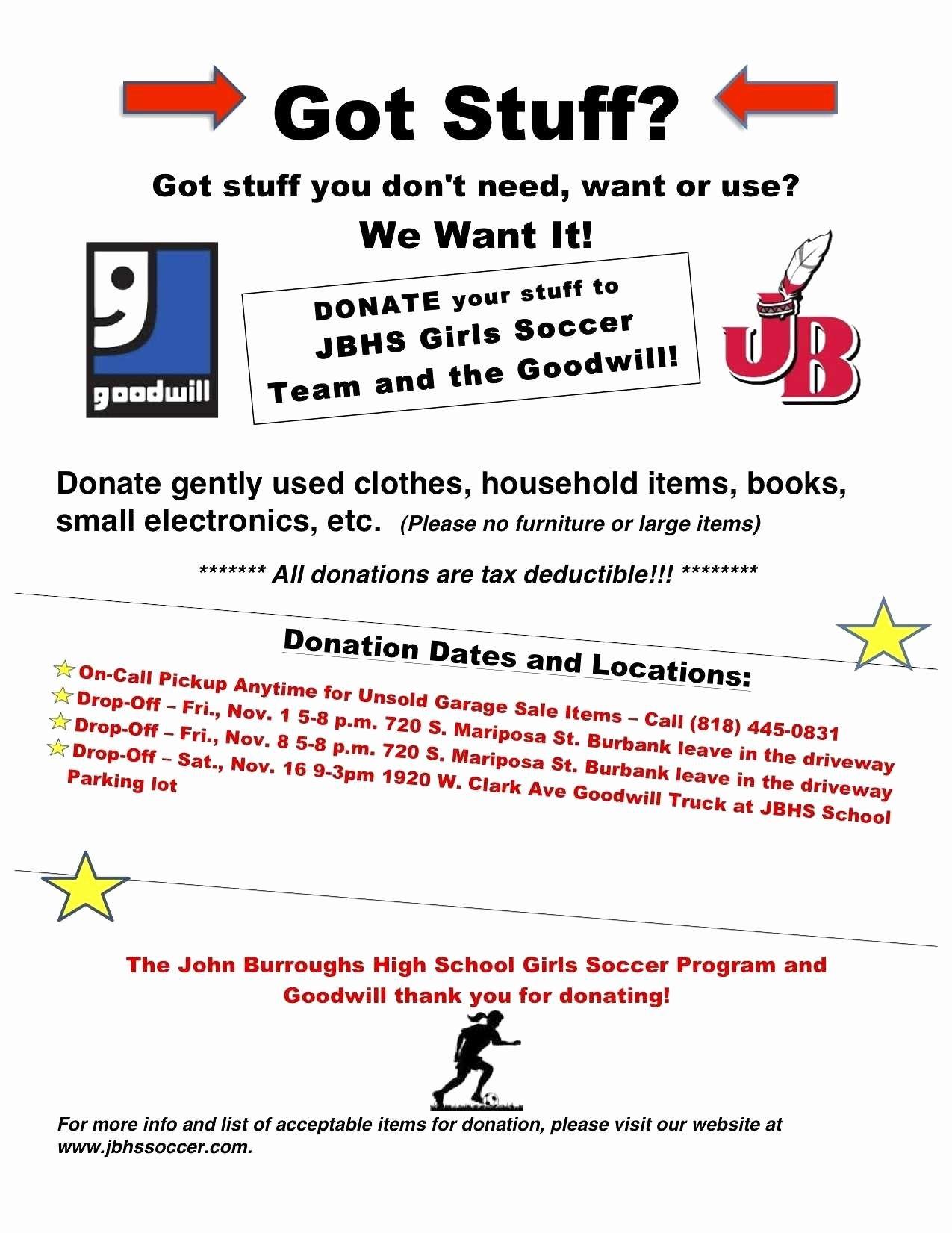 Goodwill Donation Spreadsheet Template