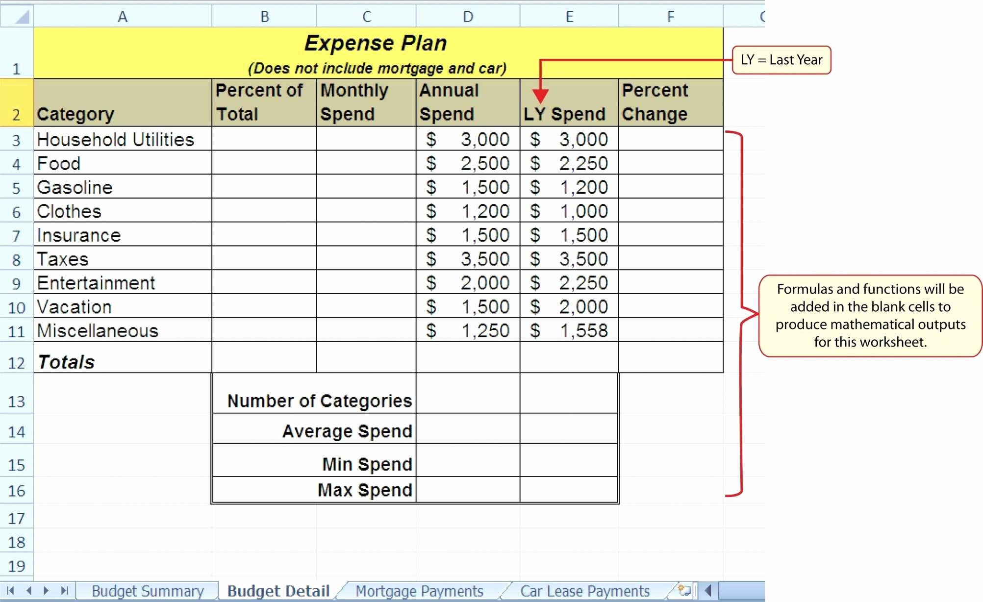Lease Amortization Schedule Excel Template