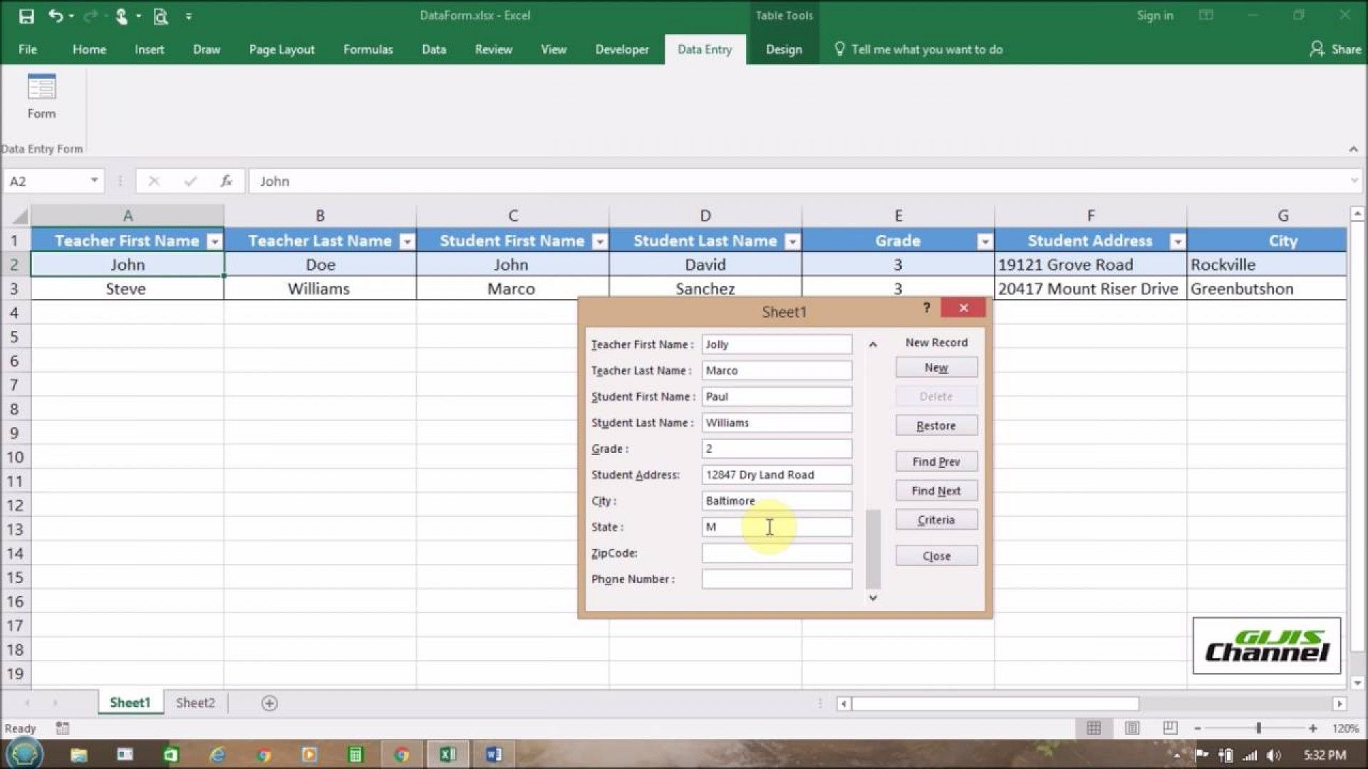 Smed Template Excel