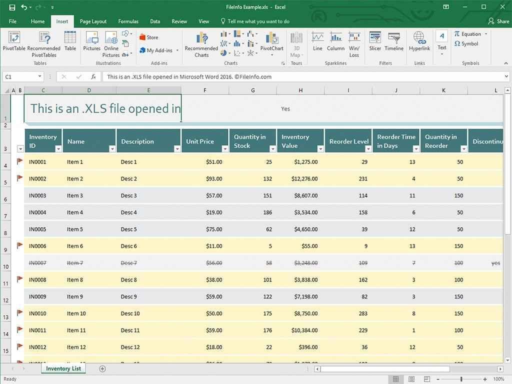 P Amp L Excel Template