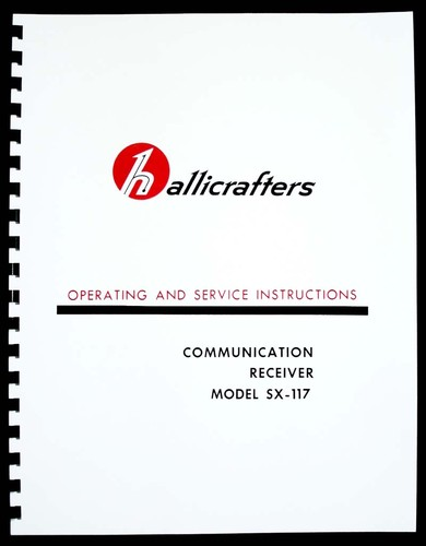 Hallicrafters SX-117 SX117 Communications Receiver Manual