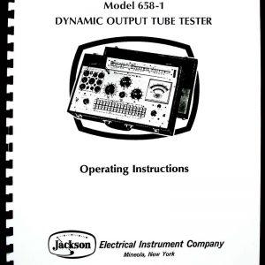 Jackson 637 Tube Tester Manual with Tube Test Data