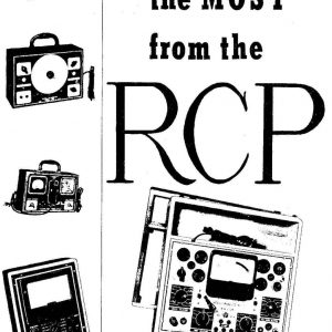 RCP 308 309 310 312 Tube Tester Manual with Tube Data and