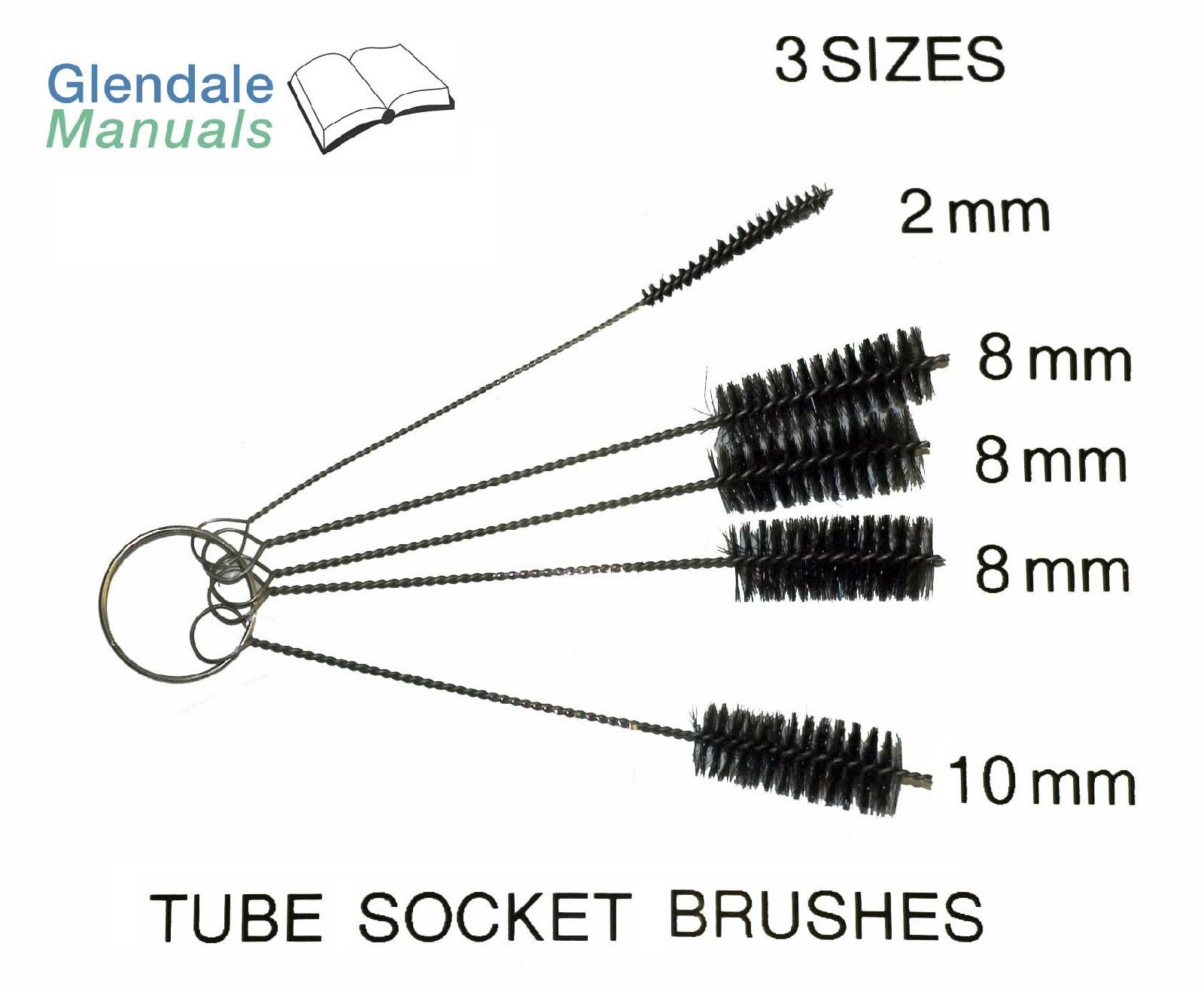 Tube Socket Cleaning Brush Set Brushes Size Mini to