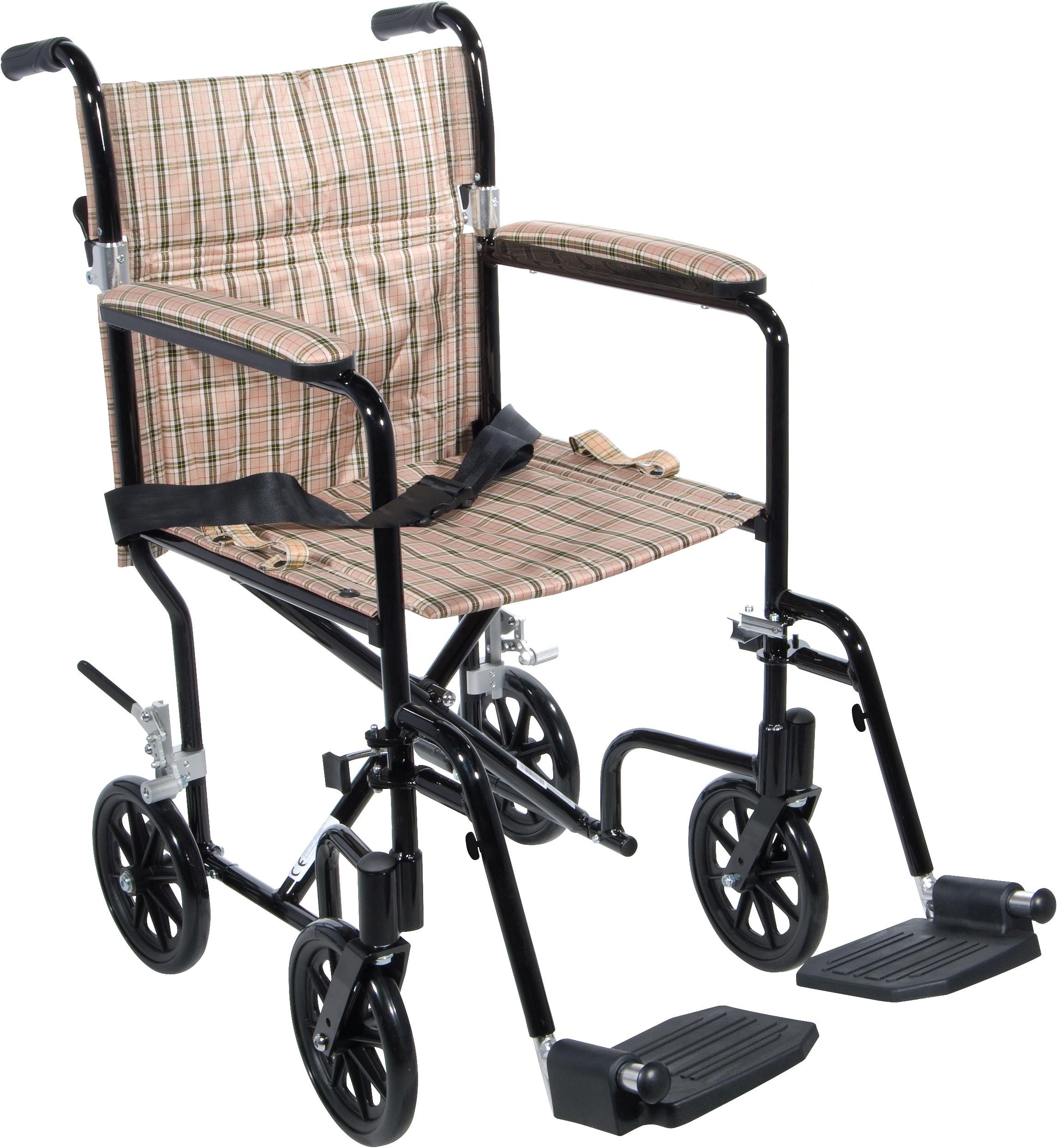 19 Flyweight Lightweight Transport Wheelchair