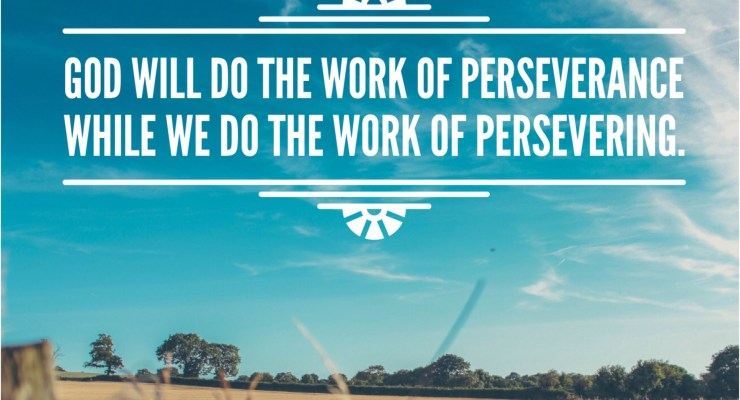 God will do the work of perseverance while we do the work of persevering.