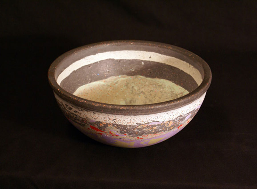 Banded Bowl    26  D x 11 H cm  (Small)