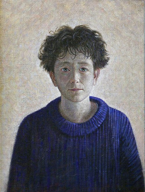 Portrait of Isabelle, 58 x 44 cm, Acrylic on Hessian