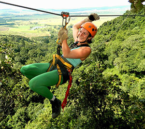 Ziplining at Karkloof