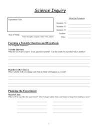 Scientific Inquiry Worksheets - resultinfos