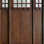 Front Door Custom Single With 2 Sidelites Solid Wood With Walnut Finish Craftsman Model Gd 311 2sl Cst Glenview Doors In Chicago Il At Glenview Haus