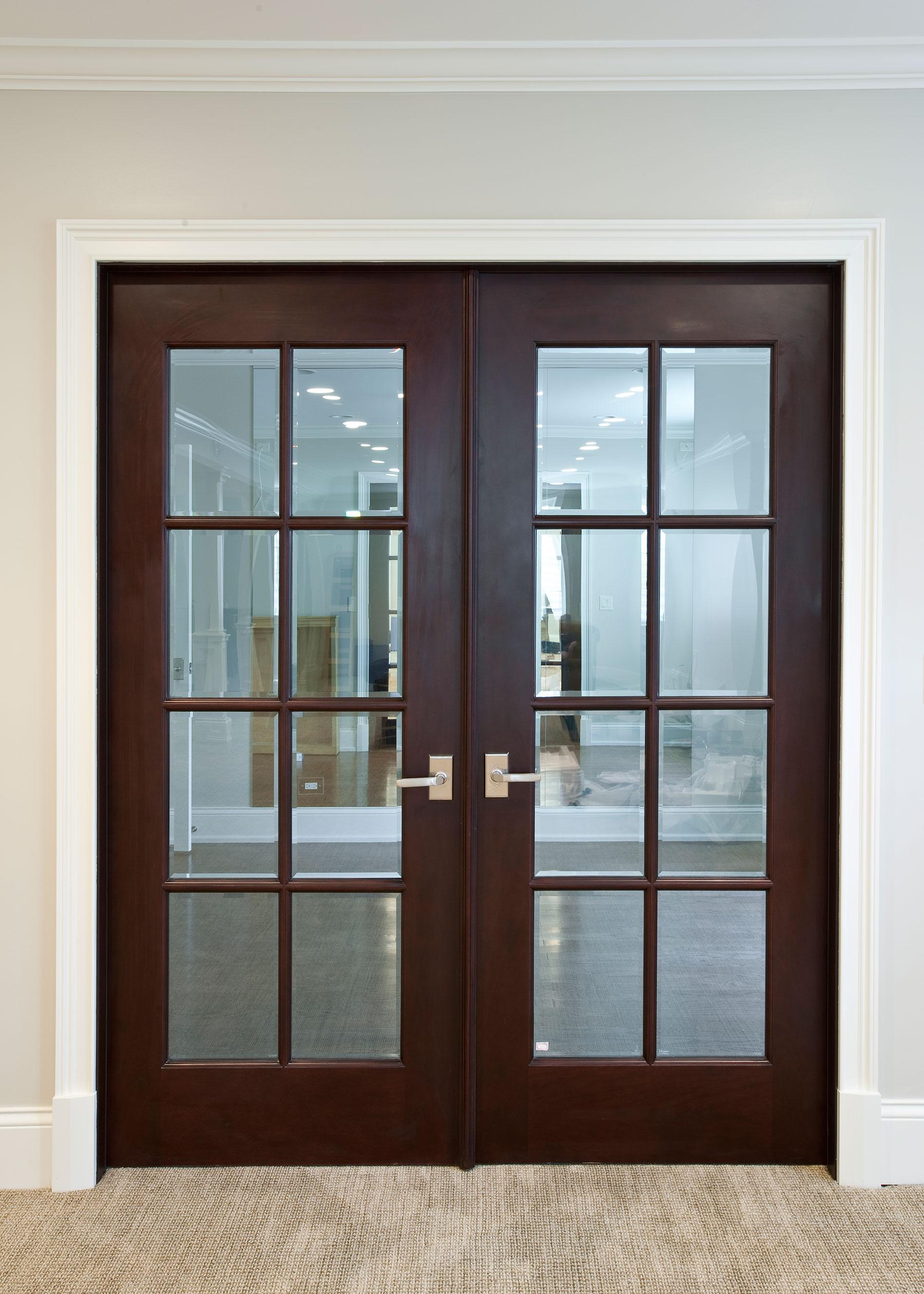 Custom Interior Beveled Glass Door Divided Grills Door Gallery In Stock And Custom Doors Pivot Doors Wine Cellar Doors Solid Wood Euro Technology Paint Grade Mdf