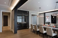 Custom Refrigerated Wine Cabinet  North Shore Modern Home ...