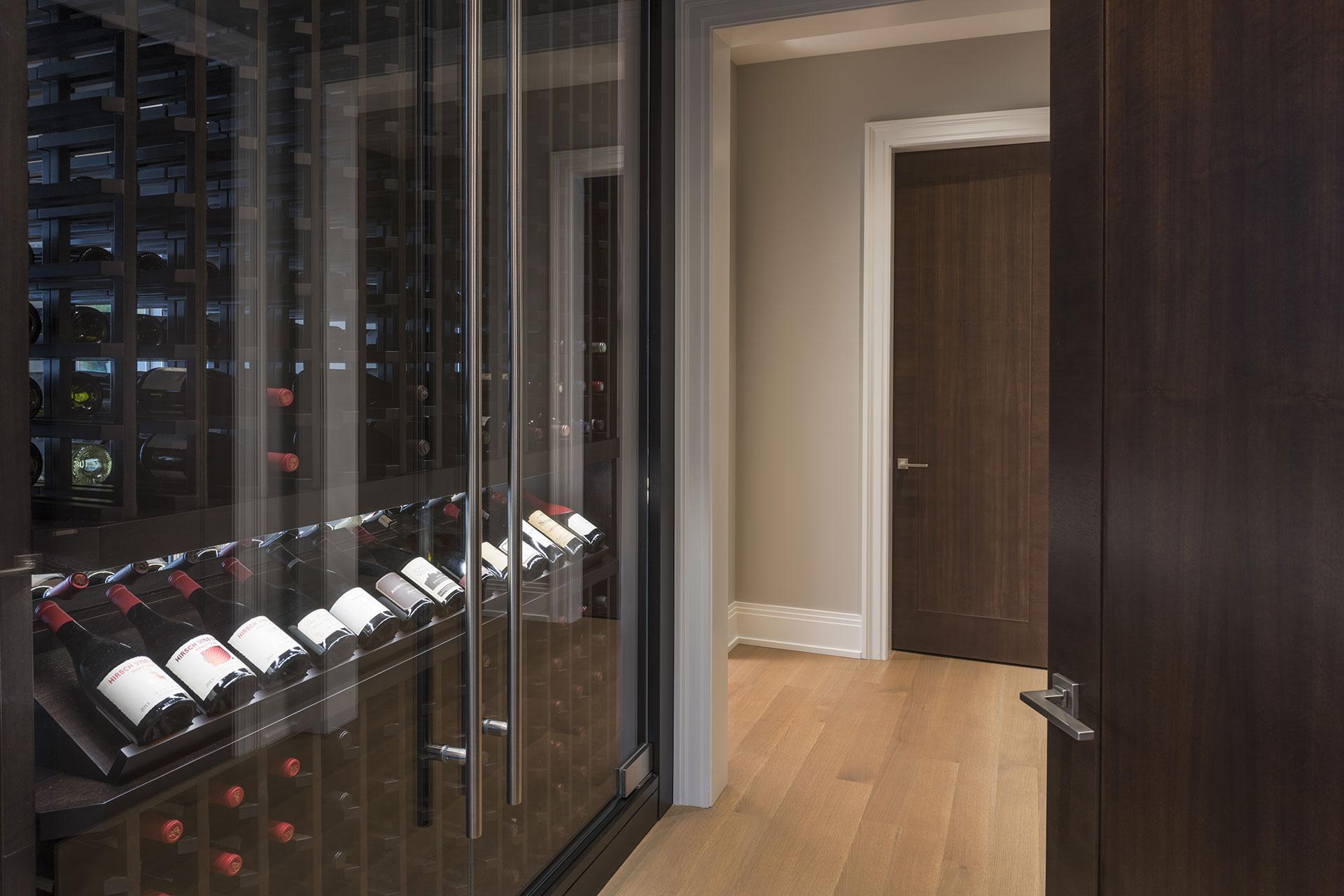 Custom Refrigerated Wine Cabinet  North Shore Modern Home