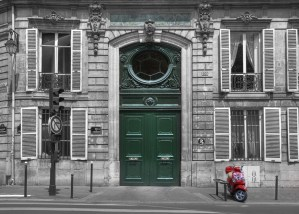 Paris Door & Scooter