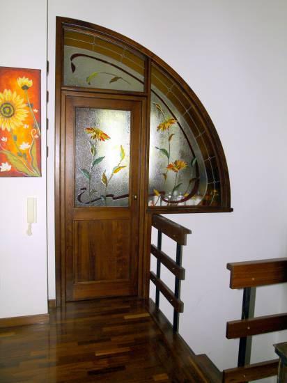 porta a vetridesign originale in legno fabbrica di