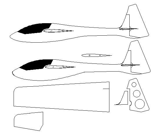 Mini Toons type close-in aerobatics sloper