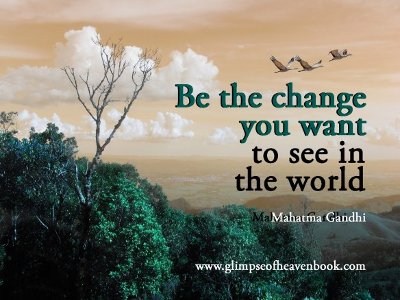 Be the Change You Want to See in the World