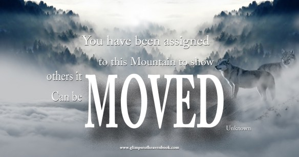 You have been assigned this mountain to show others it can be moved   Unknown