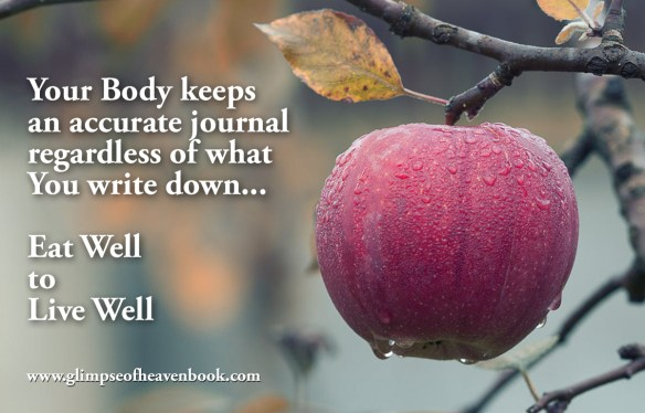 Your Body keeps an accurate journal regardless of what You write down... Eat Well to Live Well