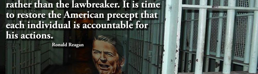 We must reject the idea that every time a law's broken, society is guilty rather than the lawbreaker. It is time to restore the American precept that each individual is accountable for his actions. Ronald Reagan
