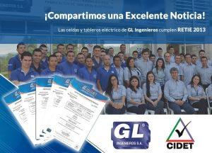 GL Ingenieros S.A cumple RETIE 2013