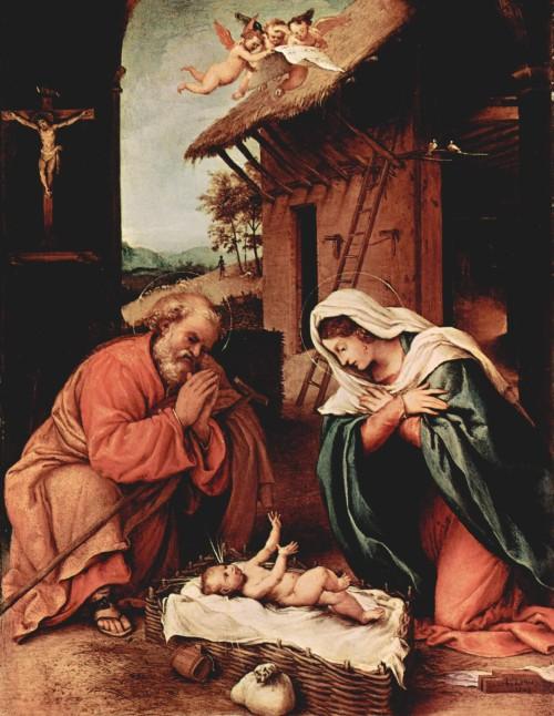 Lorenzo Lotto, Nativita', 1523, Washington, National Gallery of Art