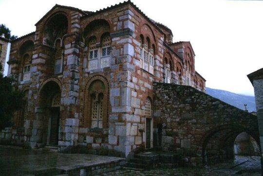 Monastero di Ossios Loukas, sorto sulla tomba del santo eremita Luca lo Stiriota morto nel 953 d.C.
