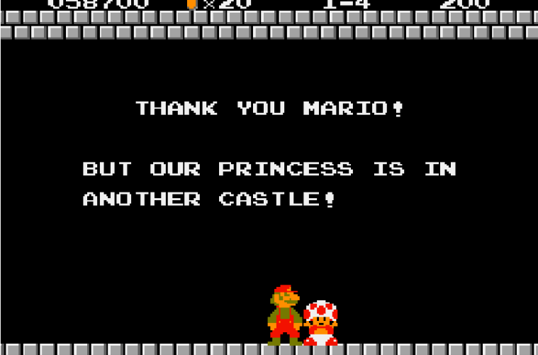 Super-Mario-Bros-The-Princess-is-in-Another-Castle