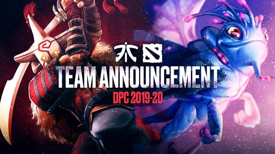 Fnatic Dota 2 esports new roster DPC season